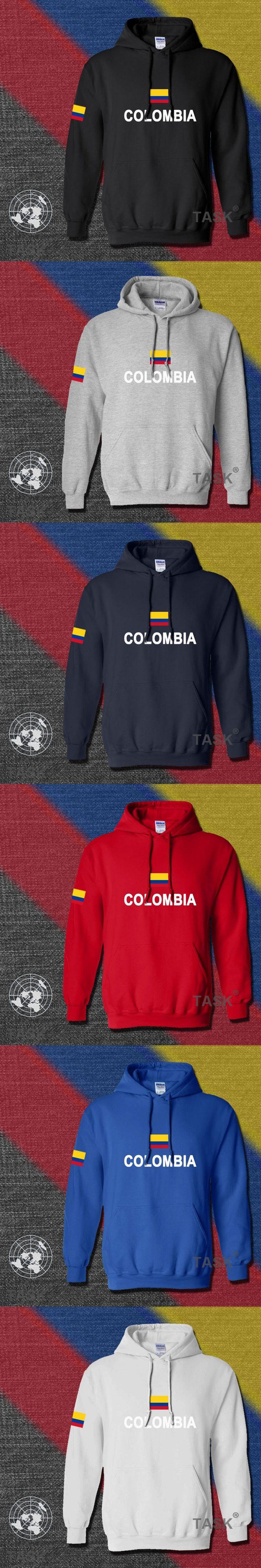 Colombia hoodies men sweatshirt polo sweat new hip hop streetwear footballes jerseyes tracksuit nation Colombian flag CO fleece