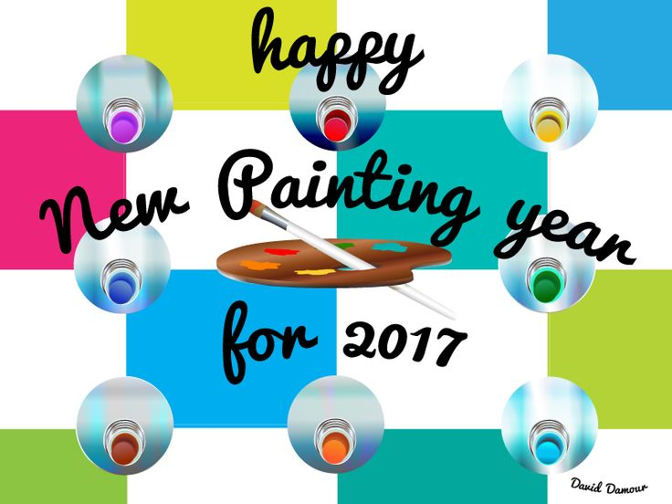 Happy New Painting Year 2017 by David Damour