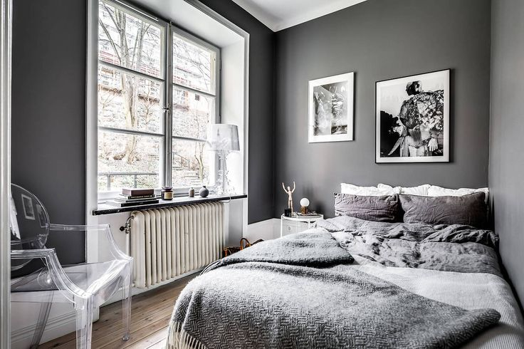 Small dark bedroom