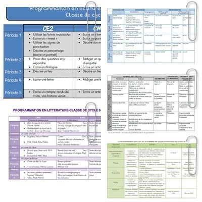 Fichier unique en PDF :Programmations 2015-2016 Pour ces programmations j'ai tenu compte des ajustements des programmes de 2008: pour le CM2 j'ai par exemple supprimé l'apprentissage de la règle ...