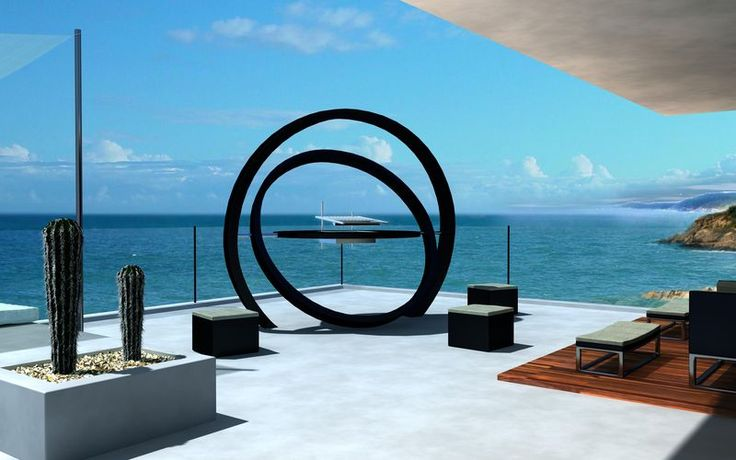 Concentric Ring Barbecues - The Kara Barbecue by Cesarre is a Super Modern Outdoor Grill (GALLERY)