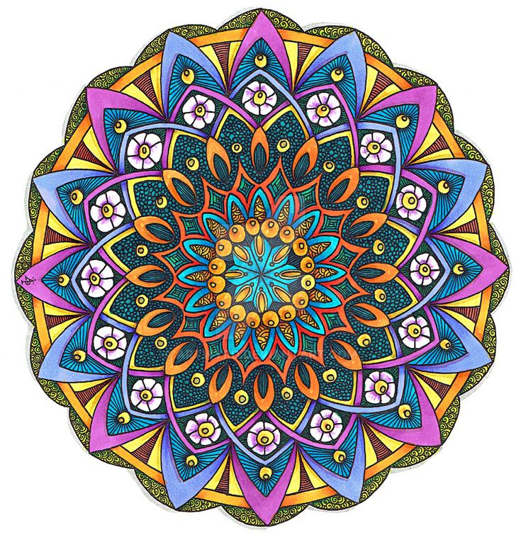 Coloured Version of Mandala 24 June 2014 by Artwyrd.deviantart.com on @DeviantArt