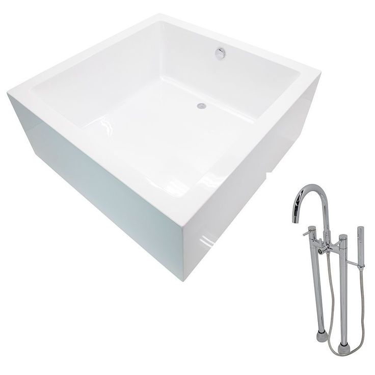 Anzzi Apollo 4.6 ft. Classic Freestanding Flatbottom Non-Whirlpool Bathtub in and Sol Faucet in Chrome