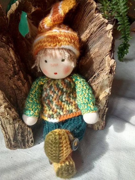 FREE SHIPPING Waldorf inspired doll elf boy steiner by MeseHely