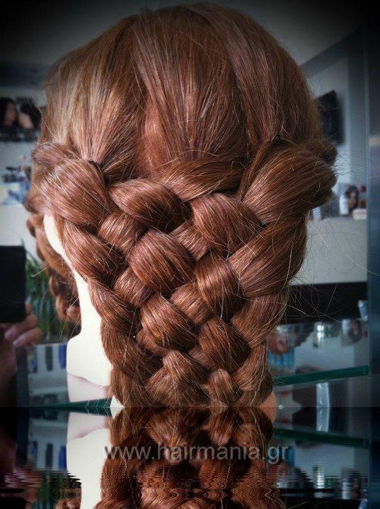 Greek hairdressing: 7 strand braid by team Hairmania
