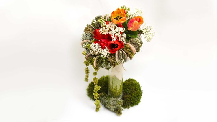 Уроки флористики Как сделать каркас для букета урок Lessons floristry Ho...