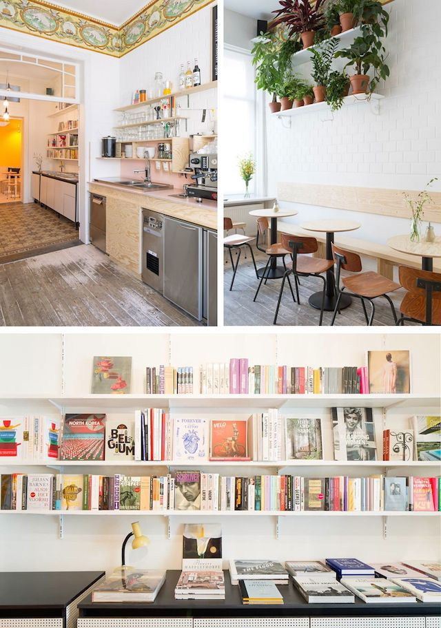 Now this is a place on my travel-visit wish list : the Buchbar coffee and book shop located in Antwerp, Belgium. By the way, it's International Coffee Day today, so… coffee anyone?