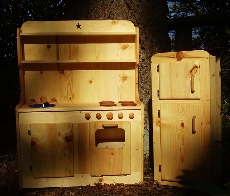Beautiful Wooden Play Kitchen Set By Heartwood Natural Toys