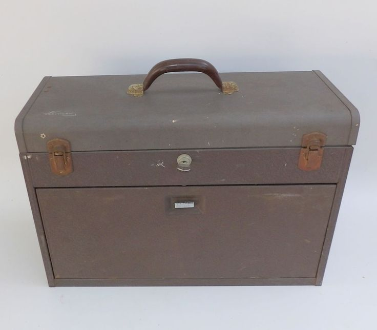 Vintage Kennedy Machinists Tool Box #520 With Key & FREE SHIPPING! #Kennedy