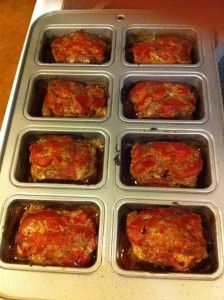 Low-Carb Meatloaf ~ 1 1/2 pounds ground beef 1 cup crushed pork rinds 1 egg, lightly beaten 1 can tomato sauce 1/4 teaspoon salt 1/4 teaspoon pepper 2 tablespoons dried parsley 1/4 cup mozzarella cheese 1/4 cup diced onions Preheat oven to 350 degrees. Mix all ingredients. Transfer mixture to shallow baking pan or loaf pan. Bake 45 minutes to 1 hour.