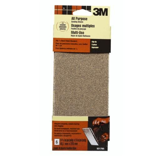 "3M 9217NA Coarse Sand Sheet 3-2/3"" x 9"""
