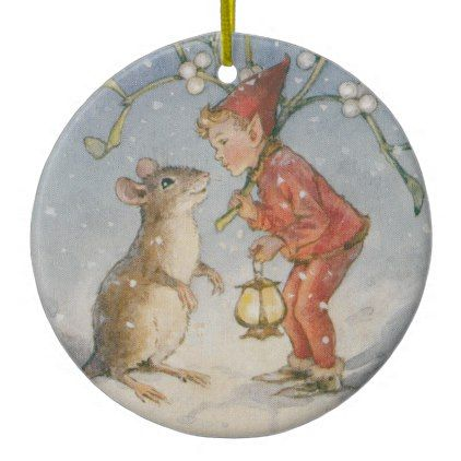 #Christmas Mouse No. 1 Ceramic Ornament - #Xmas #ChristmasEve Christmas Eve #Christmas #merry #xmas #family #holy #kids #gifts #holidays #Santa