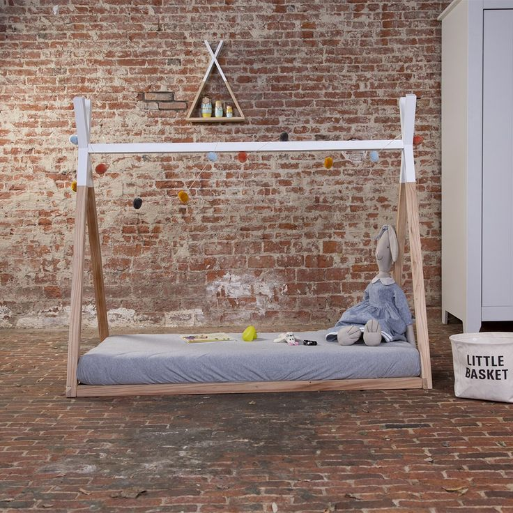 childrens tipi wooden cot bed frame unique beds kids bedroom ideas teepee bed - Unique Bed Frame