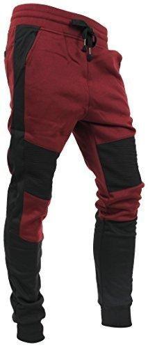 Casual Fleece Jogger Pants Active Elastic Urban Biker Slim Fit VW500 (Large VW5018)