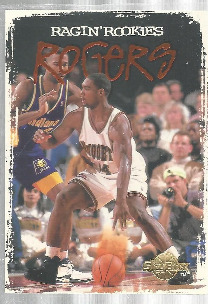 Rodney Rogers Ragin' Rookies Skybox RR6 Denver Nuggets Basketball Card 1994/95   #DenverNuggets