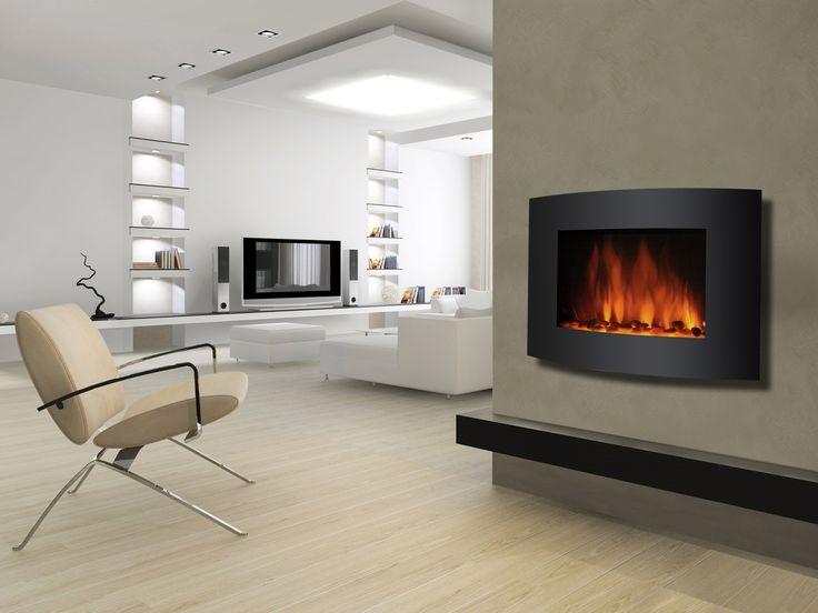 en images d interieur d un salon avec une chemine electrique faon feu de bois | Cheminée électrique Miliboo - Cheminée électrique design DELEMONT ...