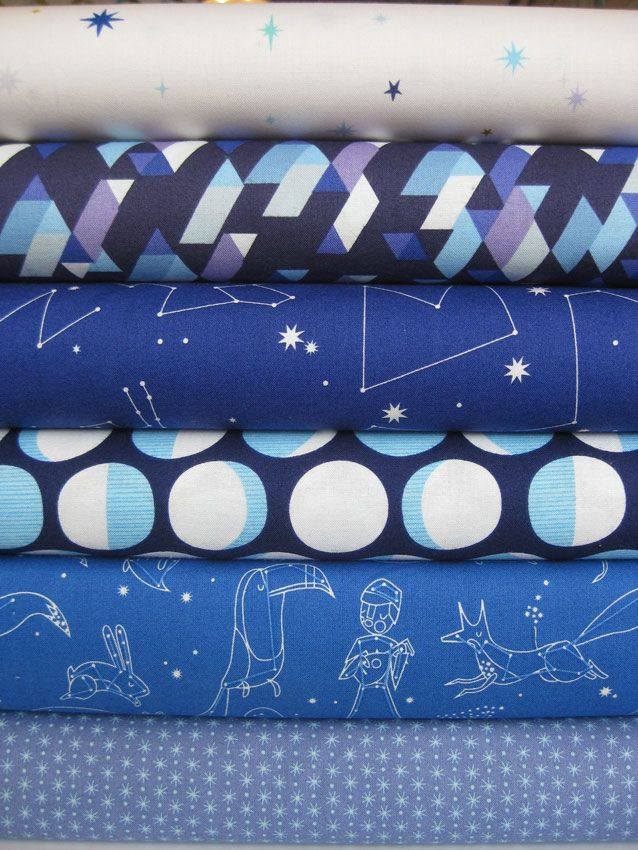Lizzy House, Constellations, Galaxy in FAT QUARTERS, 6 Total $17.45