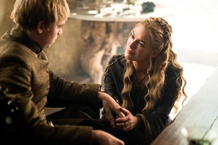 Dean-Charles Chapman as King Tommen Baratheon and Lena Headey as Cersei Lannister