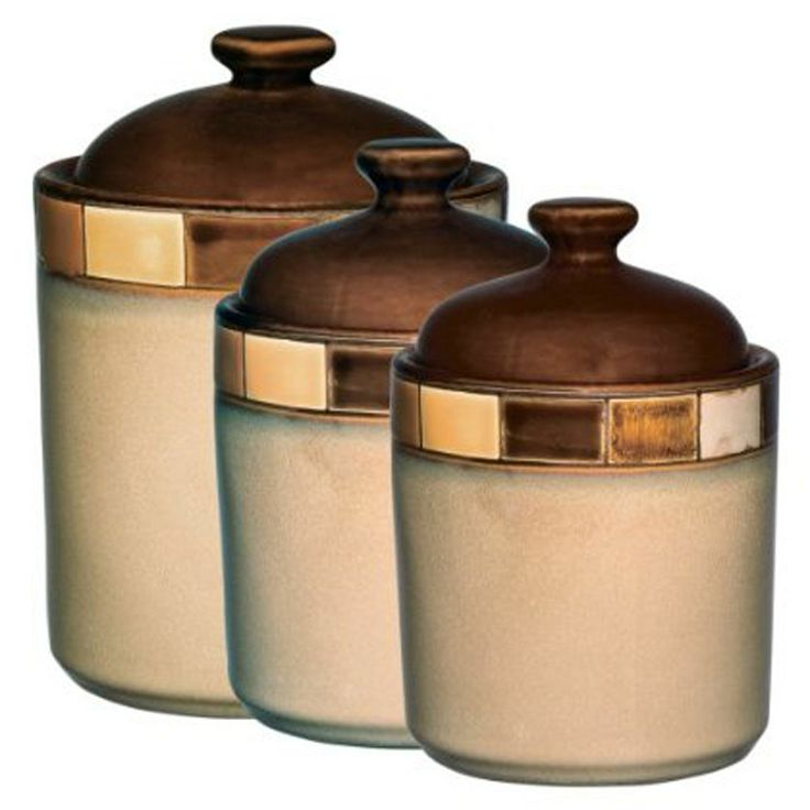 Wow These Are Really Pretty Casa Estabana 3 Piece Ceramic Canister Set