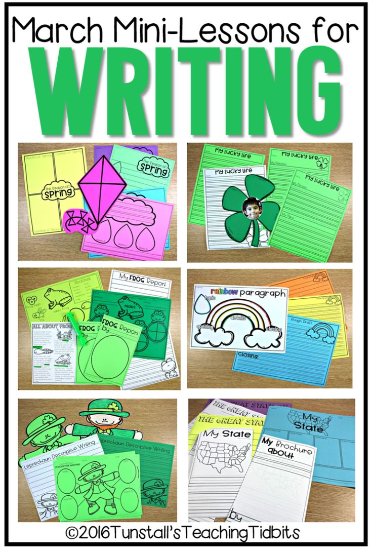 1st grade writing activities for march