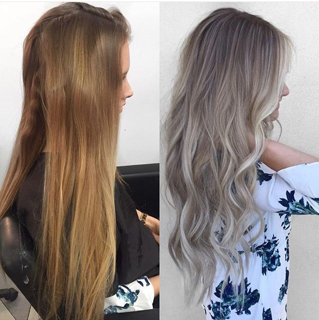 Natural ash blonde balayage