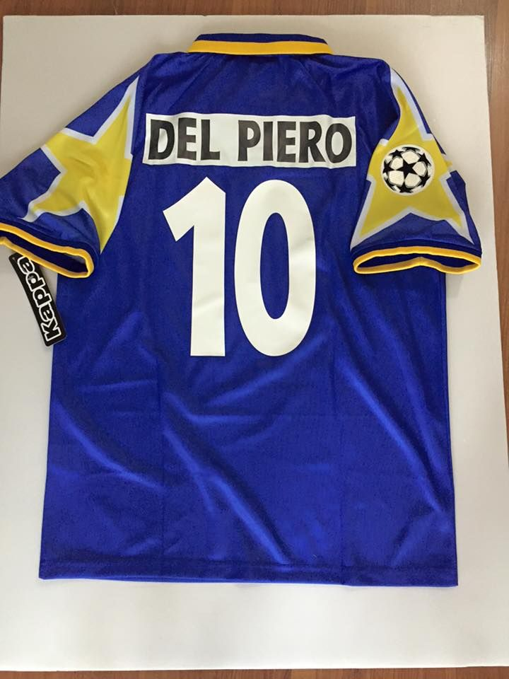 Men's 1996 Champions League Final Juventus Del Piero Match Soccer Jersey