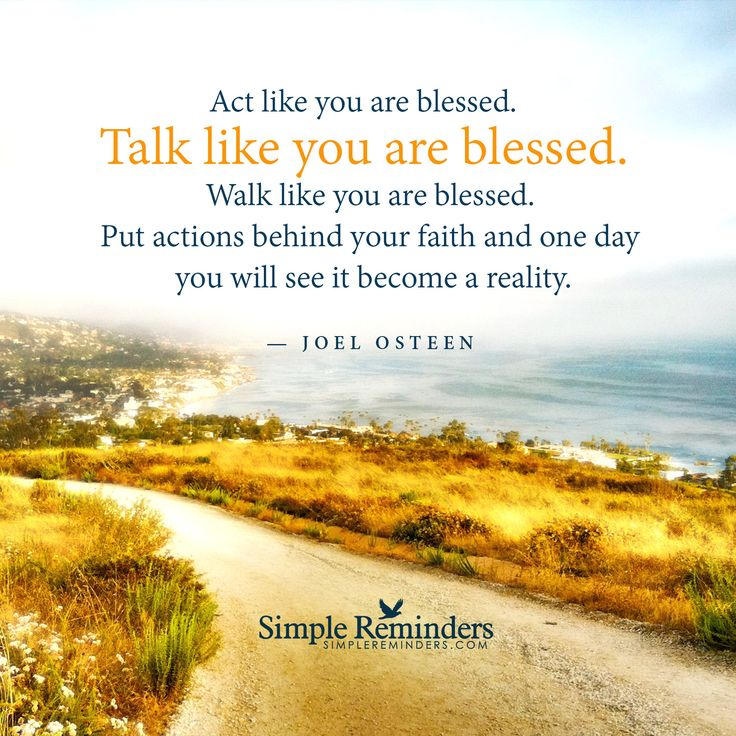 Talk like you are blessed by Joel Osteen