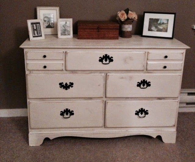 Just Another Crafternoon: Distressed Dresser and Night Table