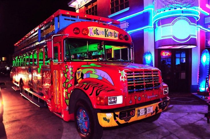 Kukoo Kunuku Party Bus Nightlife in Aruba:  Read reviews written by 10Best experts and explore user ratings. No need to designate a driver when you take this dinner and barhopping tour. A wildly painted 1957 Chevy bus picks you up at your hotel and transports you to Arashi Beach for a glass of champagne and a Caribbean sunset. Throughout the course of the evening, you will visit three local bars and have dinner at a traditional Aruban home or restaurant. The cost of an evening includes hotel…