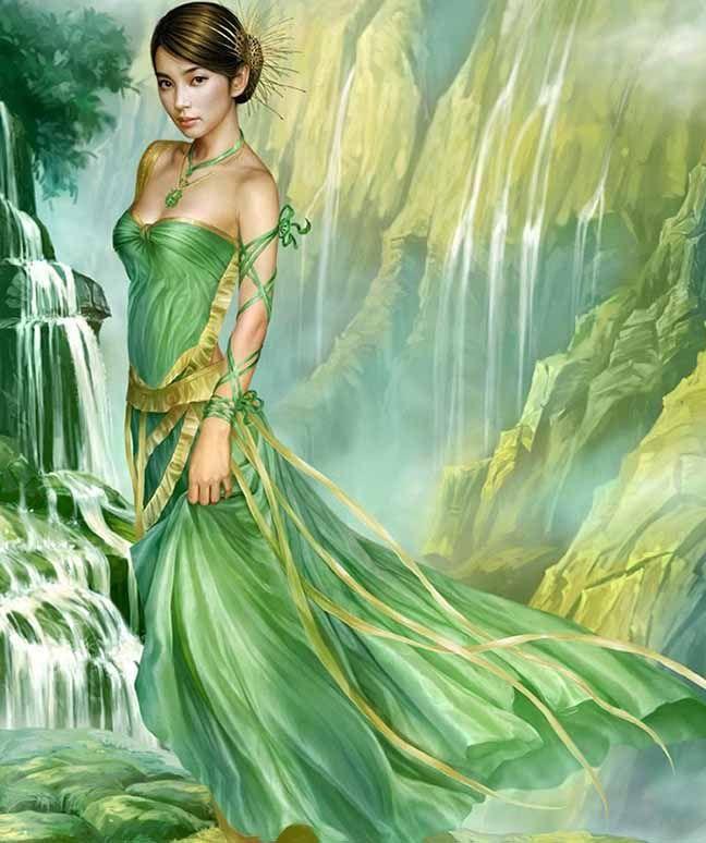 beautiful girl fantasy art by yuehui tang -  9