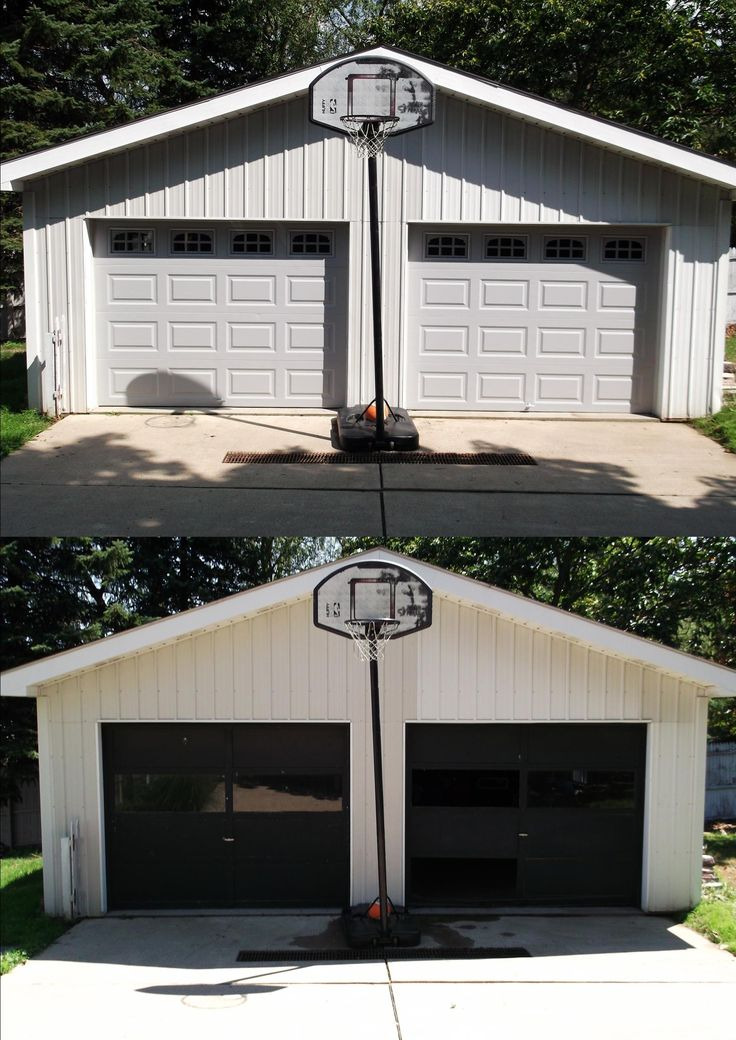 Clopay 4050 Garage Door Perfect Color Match To The Siding On The Garage!  Custom Painting