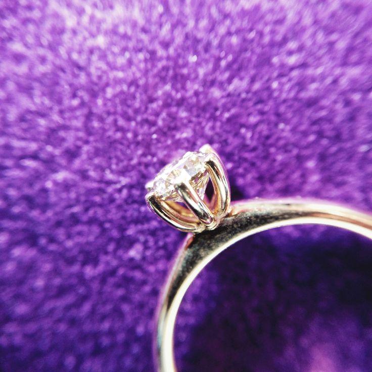 18k Light-Pink Gold Engagement Ring with a Central Champagne Brilliant Cut Diamond 0.51ct   www.adam-eve.ro  Adam & Eve Diamonds | Experts in engagement rings   #adamevediamonds #adpersonam #accessories #rings #jewels #jewelrydesign #gems #marriage #gemstone #jewelry #jewellery #gold #jewel #jewelrygram #showmeyourrings #jewelryaddict #finejewelry #ring #diamond #diamonds #engagement #engaged #bridetobe #weddinginspiration #bridal #bride #engagementring #weddingring #diamondring #proposal