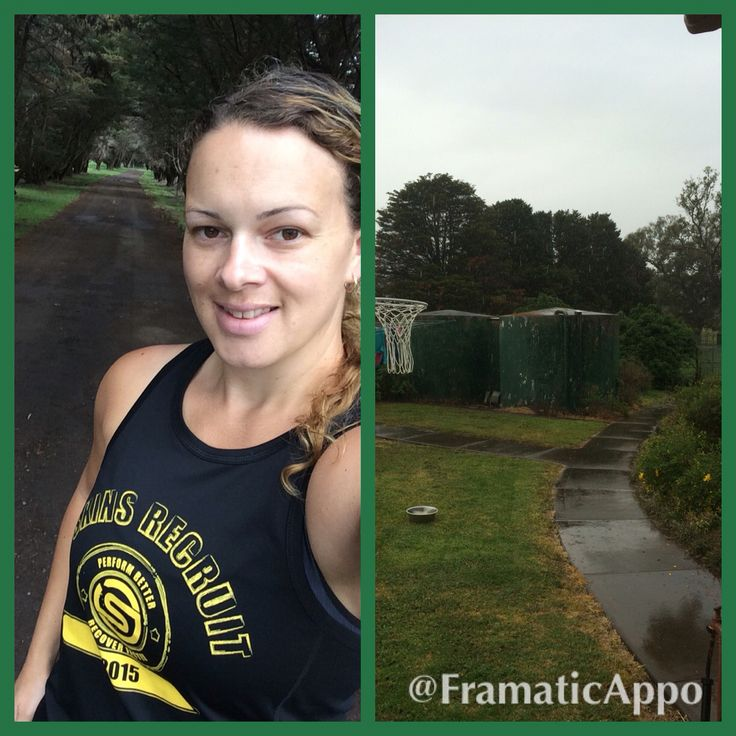 Interval runs up and down my driveway pushing my toddler in her pram. Got in about 15 minutes before the rain set in.