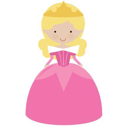 Fairytale Princess In Pink - SVG Scrapbooking File