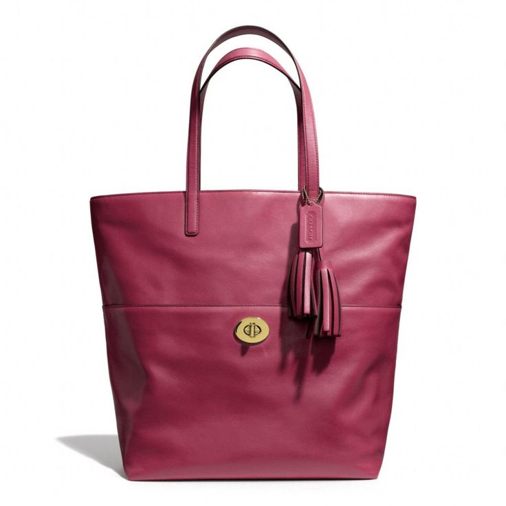The Legacy Turnlock Tote In Leather from Coach