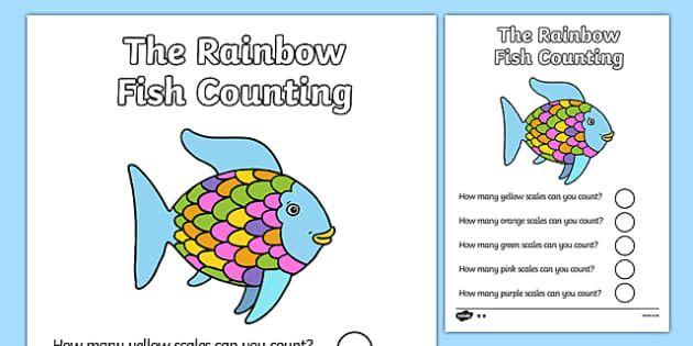 Rainbow Fish Printable Worksheets In 2020 Rainbow Fish Printable Worksheets Kids Worksheets Printables Rainbow fish printable worksheets