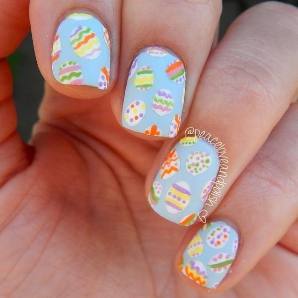 Easter egg spring nails