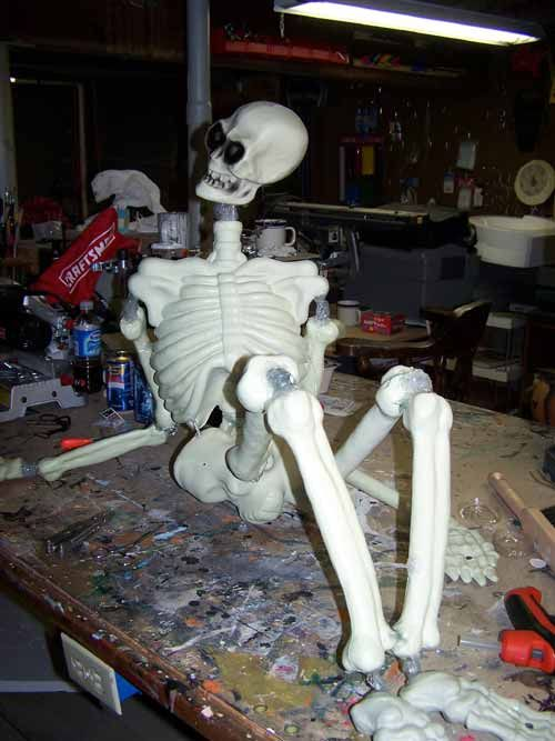 corpsification 101 and how to build a good skeleton from a cheap one halloween - Cheap Halloween Props