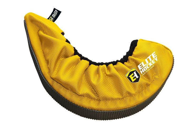 Elite Hockey Pro-Skate Guard (Yellow, SR/Large). Includes One Pair Of Elite Hockey Pro Skate Blade Covers. Water-resistant Outer Lining Repels Moisture. Fits Senior Size Skates; Large: Size 6-10 / X-Large: Size 10-13. Feature Rubber Traction At The Base For Safer Walking. Soft Inner Lining Treating With Vci To Protect Skate Blades While Preventing Rust.