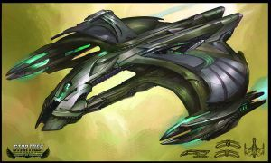 Star Trek Online Hakeev's Ship Concept Art by FBOMBheart on DeviantArt