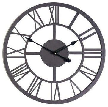 Giant Roman Numeral Wall Clock - contemporary - Outdoor Lighting - HPP Enterprises