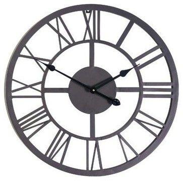Giant Roman Numeral Wall Clock - contemporary - Outdoor Lighting - HPP Enterprises