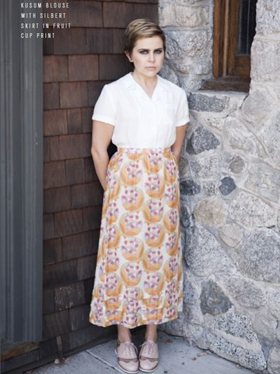 mae whitman in rachel antonoff spring/summer 2012 collection.
