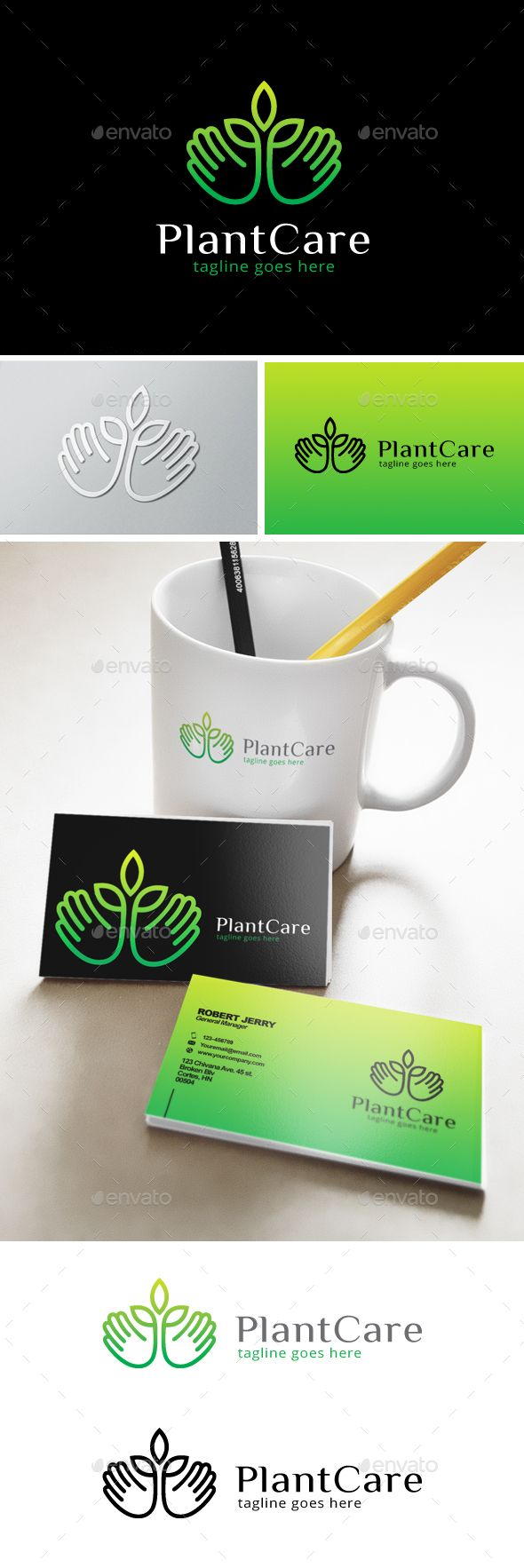 Plant Care Logo Template Transparent PNG, Vector EPS, AI Illustrator #logotype Download here: http://graphicriver.net/item/plant-care-logo/14402759?ref=ksioks