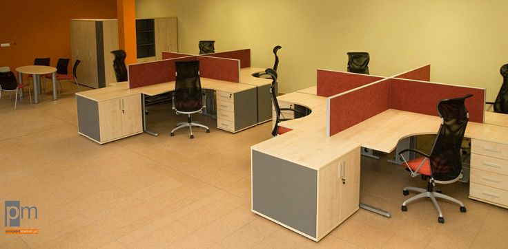 Meble w firmie PGB , system TEO więcej zdjęć na http://www.projektmebel.pl/meble-biurowe