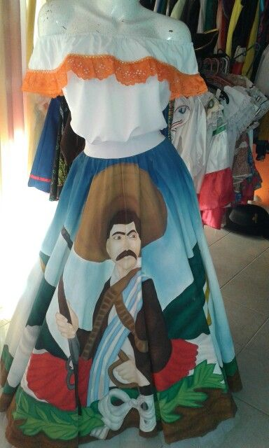 Faldas pintadas para desfiles