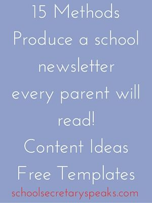 Newsletter Free Printabls School Secretary Speaks: Best Content to have parents awaiting next copy