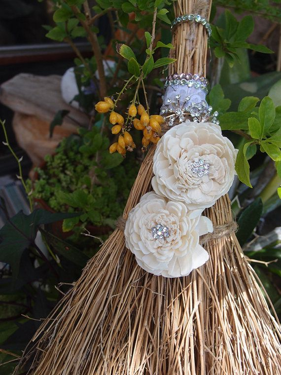 Jump the Broom Handmade 29 Brooms Weddings by BotanicalMelange
