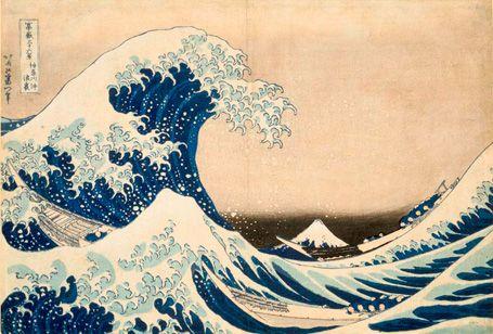 Katsushika Hokusai : great wave : 葛飾北斎 「冨嶽三十六景 神奈川沖浪裏」 大判錦絵/ギメ東洋美術館蔵 ほか