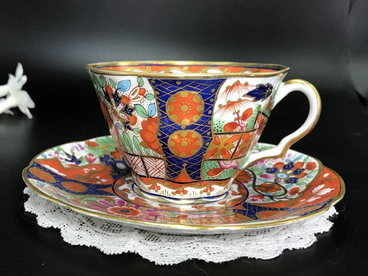 Rare Versailles Cup and Saucer, Ovington Brothers Teacup and Saucer, Made in Austria, Antique